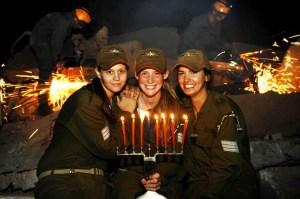 IDF Spokesperson - Hanukah candles