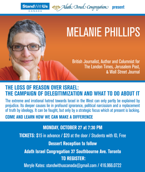 Melanie-Phillips-October-27-Toronto