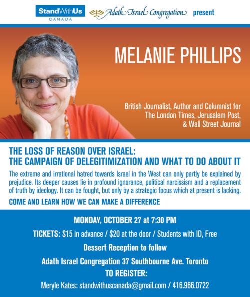Melanie-Phillips-October-27-Toronto